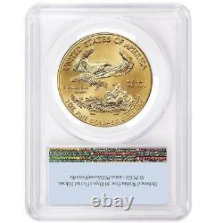 2021 $50 American Gold Eagle 1 Oz Pcgs Ms69 First Strike Flag Label