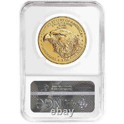 2021 50 $ Type 2 American Gold Eagle 1 Oz Ngc Ms70 Als Étiquette