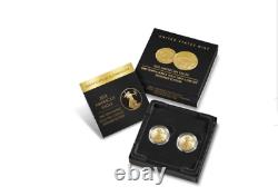 2021 American Eagle One-tenth Ounce Gold Two-coin Set Designer Edition En Stock