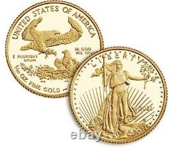 2021 American Eagle One-tenth Ounce Gold Two-coin Set Designer Edition Presale