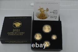 2021 American Eagle W Or Four-coin Proof Set 21efn Type 2 En Main