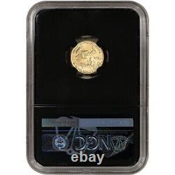 2021 American Gold Eagle 1/10 Oz 5 $ Ngc Ms70 Premier Jour D'émission 1er Étiquette Noir