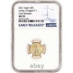 2021 American Gold Eagle 1/10 Oz 5 $ Ngc Ms70 Premières Publications