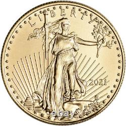 2021 American Gold Eagle 1/2 Oz 25 $ Pcgs Ms70 First Strike
