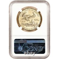 2021 American Gold Eagle 1 Oz 50 $ Mbac Ms70 Premier Jour De L'émission 70e Année