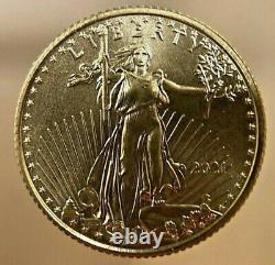 2021 American Gold Eagle Bu 5 $ 1/10 Oz - Type 1 Brillant Non Circulé