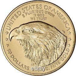 2021 American Gold Eagle Type 2 1 Oz 50 $ Ngc Ms70 Première Journée Numéro 70 Étiquette