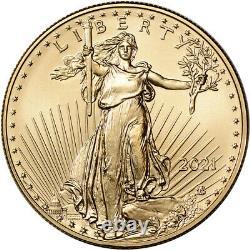 2021 American Gold Eagle Type 2 1 Oz 50 $ Pcgs Ms70 Première Grève