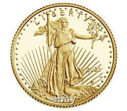 2021 W 1/10 Oz Proof Gold Eagle Ngc Pf70 Presale