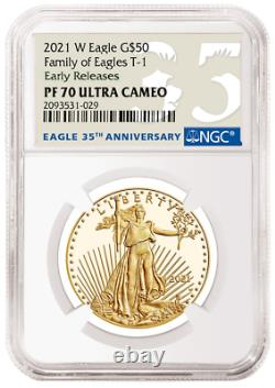 2021 W 1 Oz Proof Gold Eagle Ngc Pf70 American Eagle 21eb One Ounce G50