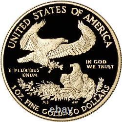 2021 W American Gold Eagle Proof 1 Oz 50 $ En Ogp