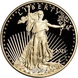 2021 W American Gold Eagle Proof 1 Oz 50 $ Ngc Pf70 Ucam Premier Jour Numéro 1er