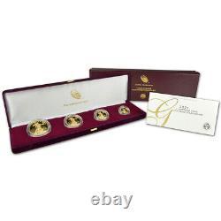 2021 W American Gold Eagle Proof Four-coin Set En Ogp
