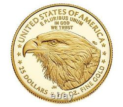 2021-w 1/2 American Eagle One-half Ounce Gold Proof Coin 21ecn Type 2 Boîte Scellée