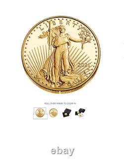 2021-w 1 American Eagle One Ounce Gold Proof Coin (21ebn) Commande De Type 2 Confirmée