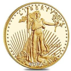 2021-w 1 Oz 50 $ Proof Gold American Eagle Pcgs Pf 69 Dcam Première Grève