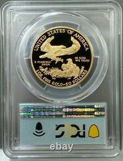 2021-w $ 50 1oz Proof American Gold Eagle Type 1 Pcgs Pr70dcam Premier Jour D'émission