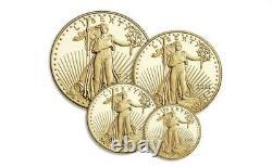 2021-w American Eagle Gold Proof Four-coin Set (21efn) Type 2 Ordonnance Confirmée