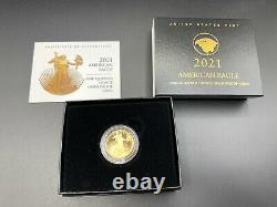 2021-w American Eagle One-quarter Ounce 1/4 Gold Proof Coin (21edn)type 2