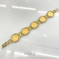 22k Gold 5 Coin American Eagle Liberty 14k Bracelet Estate Mens Ladies Vintage
