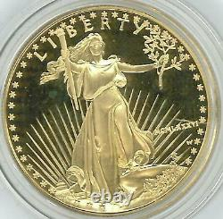 3 1987-w American Eagle Proof Or 50 $ Coin Withcoa & Box Achetez Tous Les 3! Stock Énorme