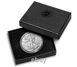 (3 Pièces) American Eagle 2021 Pièce Non Circulée D'une Once D'argent (21egn) En Main