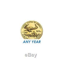 5 $ Or 1/10 Oz D'or American Eagle Us Mint 5 $ Au Hasard Année Coin