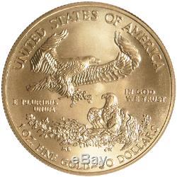 50 $ Américain Gold Eagle 1 Oz Au Hasard Année Brillant Uncirculated