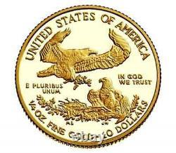Achetez Ici! 1- 2021-w 1/2oz Fine Gold Proof Am Eagle Coin(t-1) + Us Mint Pres. Cs