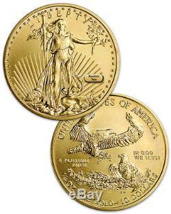 Aléatoire Date De 1/4 Oz D'or American Eagle Pièce De 10 $ Sku26122