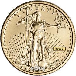 Américaine Gold Eagle (1/4 Oz) 10 $ Bu Aléatoire Date