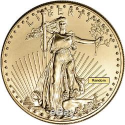 Américaine Gold Eagle (1 Oz) 50 $ Bu Aléatoire Date