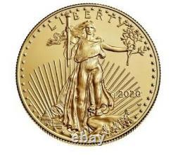 American Eagle 2020 1 Once Or Pièce Non Circulée L'année Dernière De Conception Confirmée