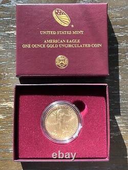 American Eagle 2020-w One Ounce Gold Pièce Non Circulée