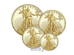 American Eagle 2021 Gold Proof Four-coin Set 4 Pièce 2021 W 21ef Confirmé