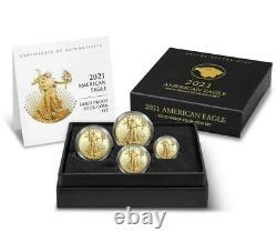 American Eagle 2021 Gold Proof Four-coin Set Article 21efn Confirmé + Vendeur Fiable