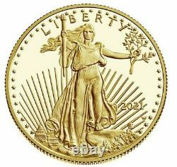 American Eagle 2021 One Ounce 1 Oz Gold Proof Coin 21eb In Hand