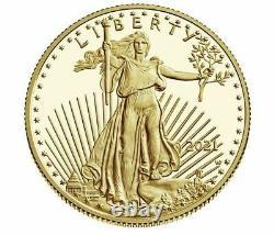 American Eagle 2021 One Ounce Gold Proof Coin 1oz Boîte Non Opénée