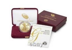 American Eagle 2021 One Ounce Gold Proof Coin. Dans La Main! Scellé