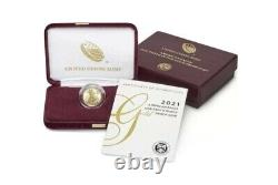 American Eagle 2021 One-tenth Ounce Gold Proof Coin 21ee Shipped Ordonnance