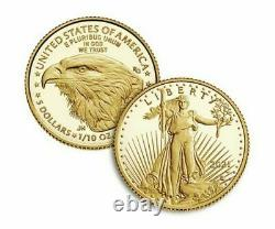 American Eagle 2021 One-tenth Ounce Gold Two-coin Set Designer Edition Seeled