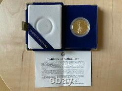 American Eagle One Ounce Proof Gold Bullion Coin 1986