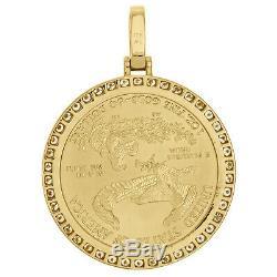 American Eagle Or 22k Liberté Coin 1 Oz. Vrai Diamant De Montage Suspendu 2,85 Ct
