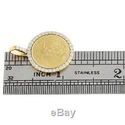 American Eagle Or 22k Liberté Monnaie 1/10 Oz. Diamant De Montage Suspendu 0,63 Ct