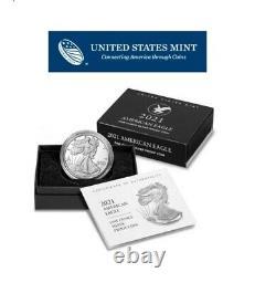 American Eagle West Point (w) 2021 Pièce De Preuve D'une Once D'argent Non Circulée