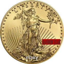 Au Hasard Année 1/10 Oz D'or American Eagle 5 $ Coin Brillant Universel