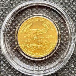 Au Hasard Année 1/10 Oz D'or American Eagle Uncirculated New Coin Brillant Capsule