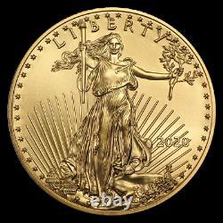Ch / Gem Bu 2020 1/2 Oz. 25 $ American Eagle Gold Etats Unis Monnaie