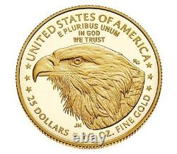 Confirmed 2021-w American Eagle One-half Ounce Gold Proof Coin 21ecn Limited
