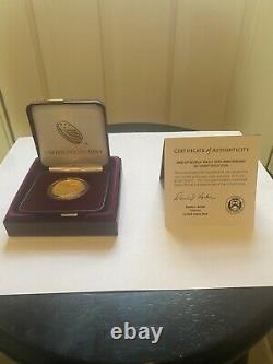 Fin De La Seconde Guerre Mondiale 75e Anniversaire 24-karat Gold Coin 20xg In Hand Fast Ship